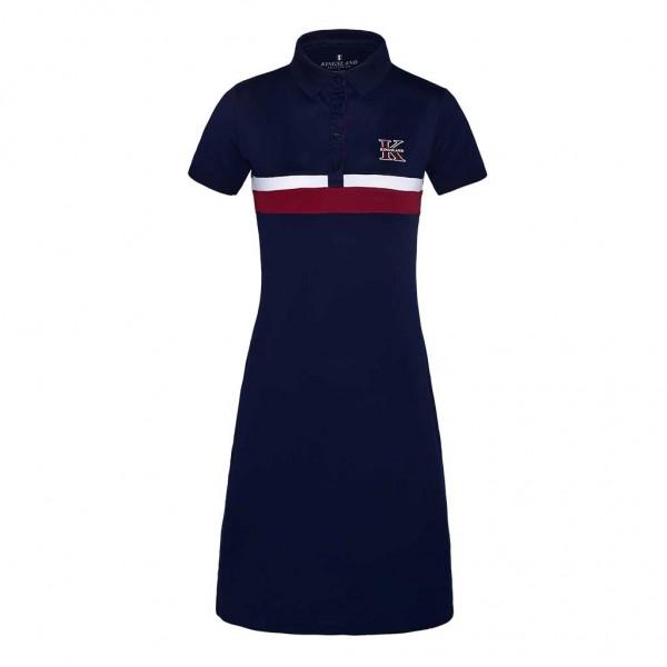 Kingsland KLlyra funktionales Pique-Kingsland Damen Kleid Blau