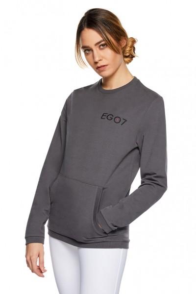 EGO7 Damen Reitpullover Sweater Grau/ Schwarz