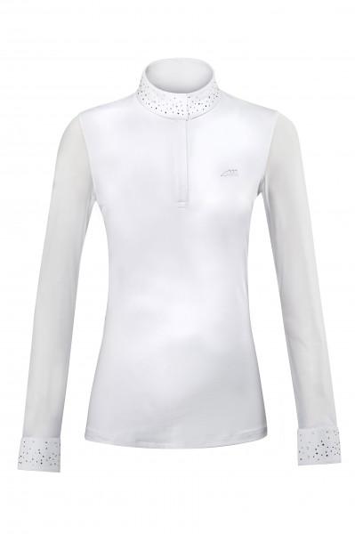 Equiline Damen Turnierbluse Langarm Weiß