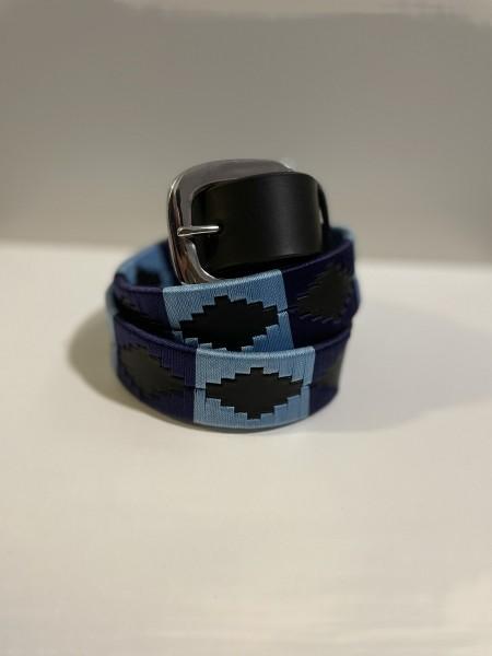 Cama Herren Gürtel Schwarz mit Muster mit verschiedenen Farben Breit