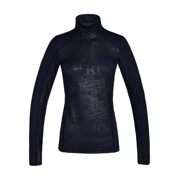 Kingsland KLmaya Trainingsshirt mit Print ½ Zipper Damen Schwarz