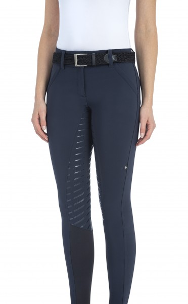 Equiline Pantalone Donna Voll Grip Damen Reithose Navy