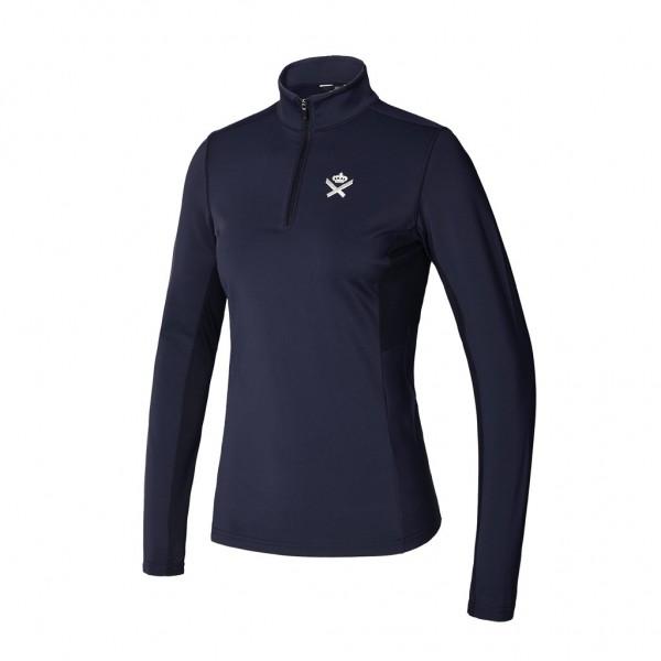 Kingsland KLtaryn Trainingsshirt ½ Reißverschluss Damen Schwarz und Allover Print