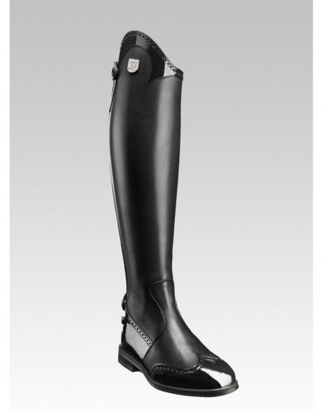 Tucci Reitstiefel Marilyn mit Budapester Muster Lack