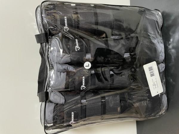 Cama Transportgamaschen mit abnehmbaren Schoner, extra waschen Schwarz/Grau